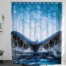 Sea Print Shower Curtain