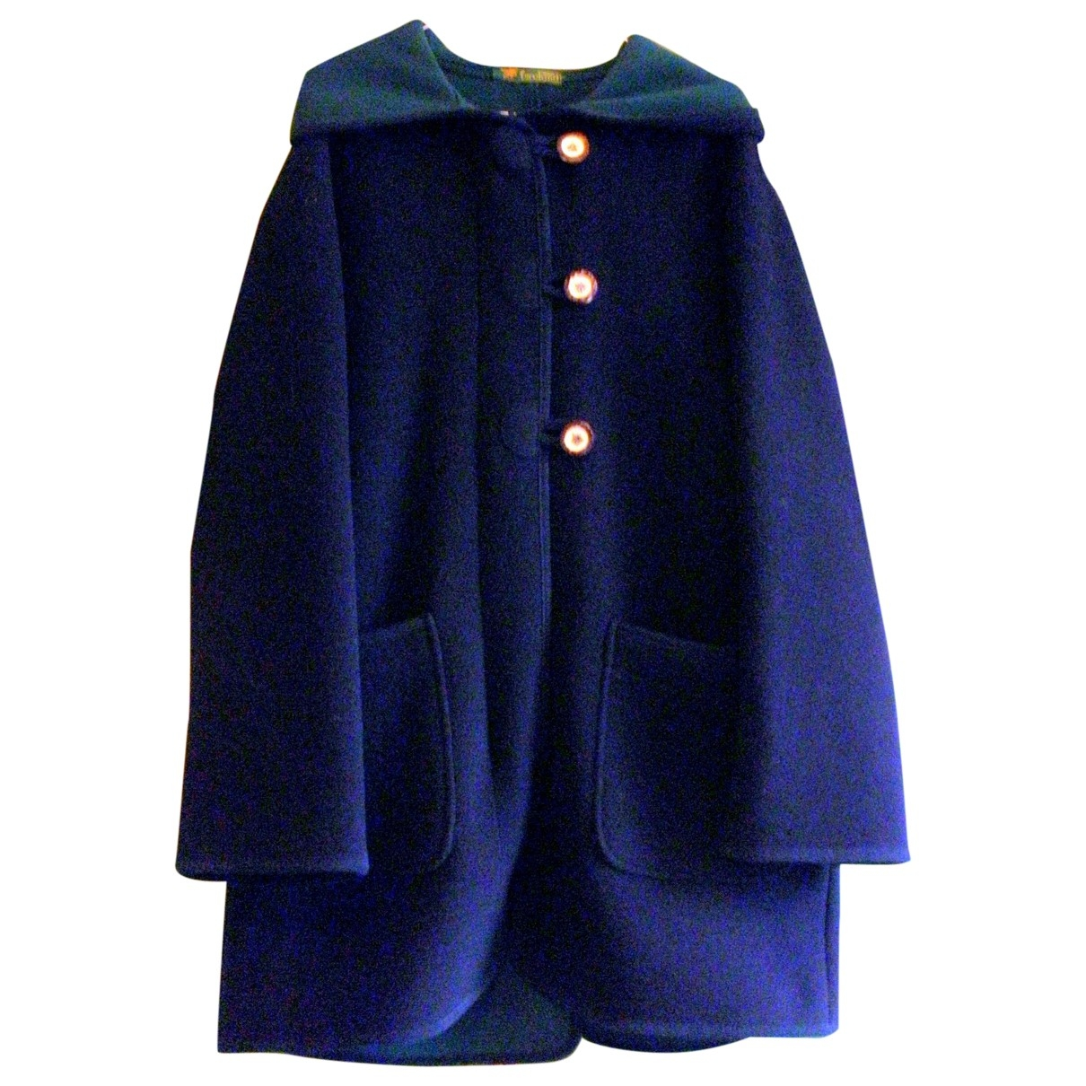 Non Signé / Unsigned \N Blue Wool coat for Women 42 IT