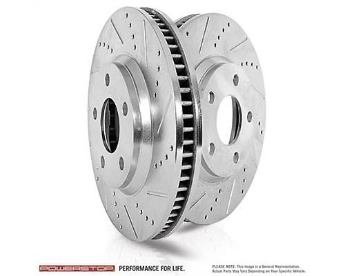 Power Stop AR82129XPR Drilled & Slotted Brake Rotor Front AR82129XPR
