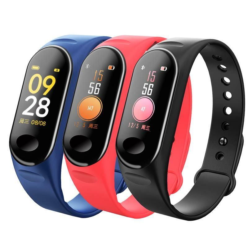 Bakeey H19 HD Color Screen Wristband 24 Hours Heart Rate Blood Pressure and Oxygen Monitor Smart Watch