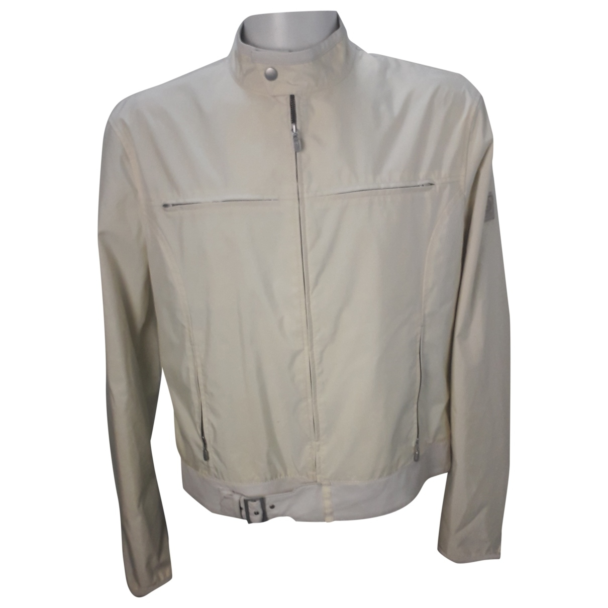 Belstaff \N White Leather jacket  for Men XL International