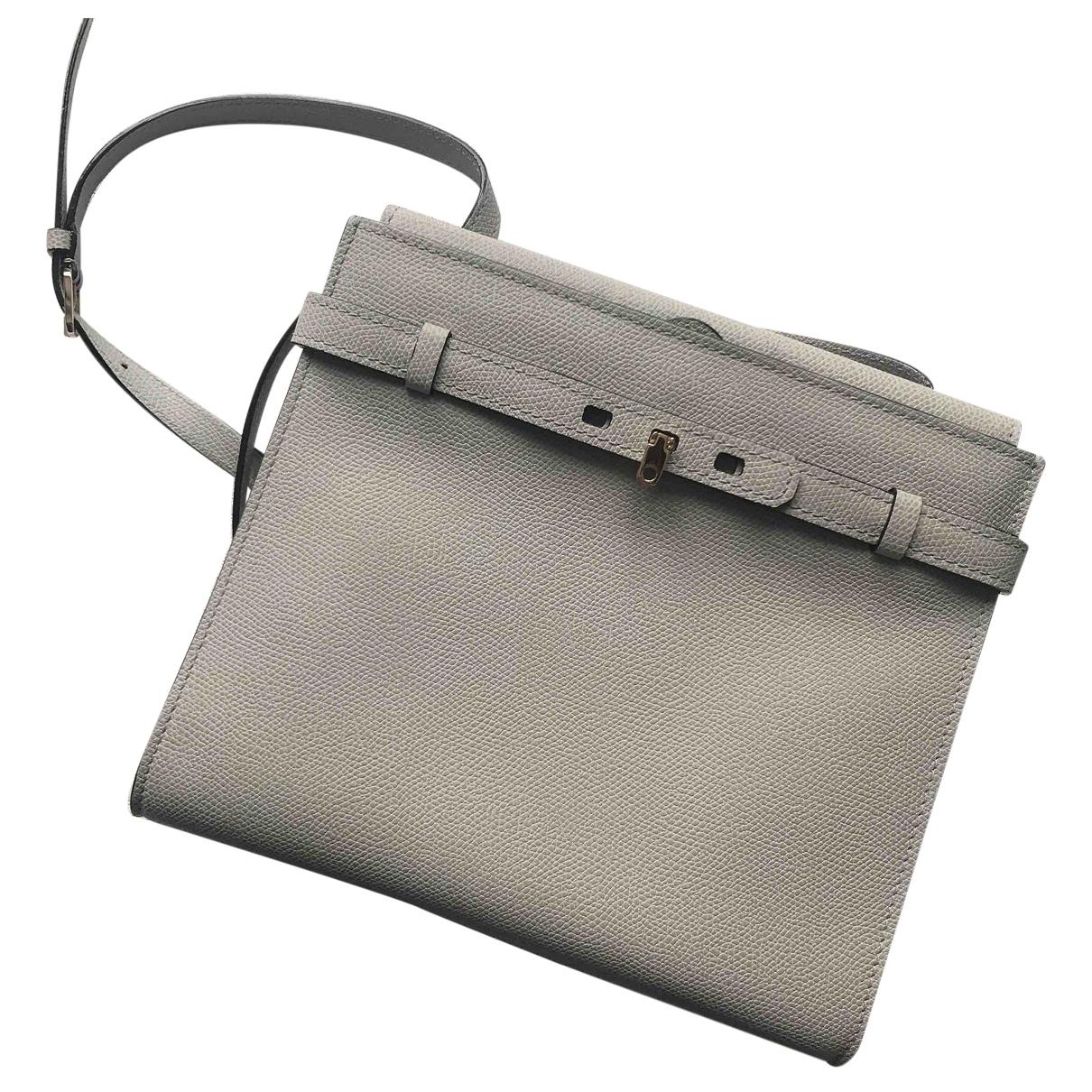 Valextra \N Handtasche in  Grau Leder