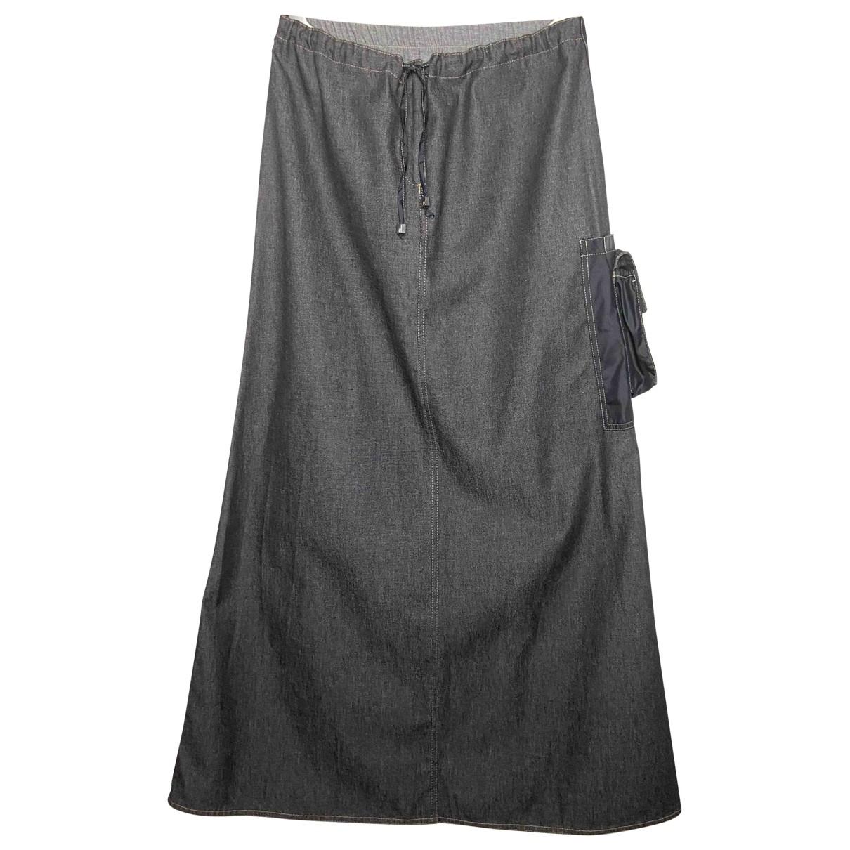 Fendi \N Anthracite Denim - Jeans skirt for Women M International