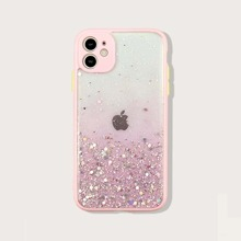 Contrast Frame Glitter iPhone Case