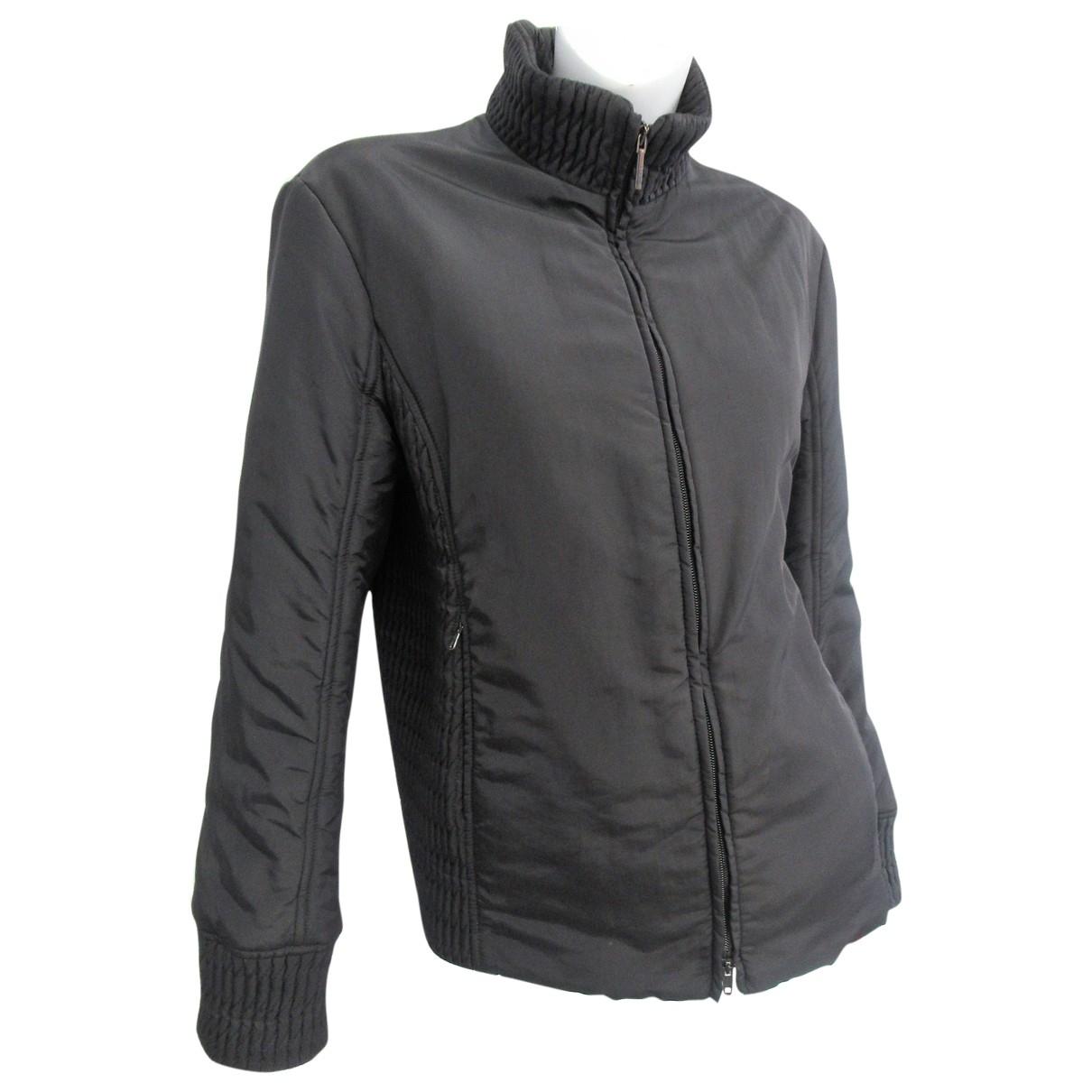 Trussardi Jeans \N Jacke in  Schwarz Polyester
