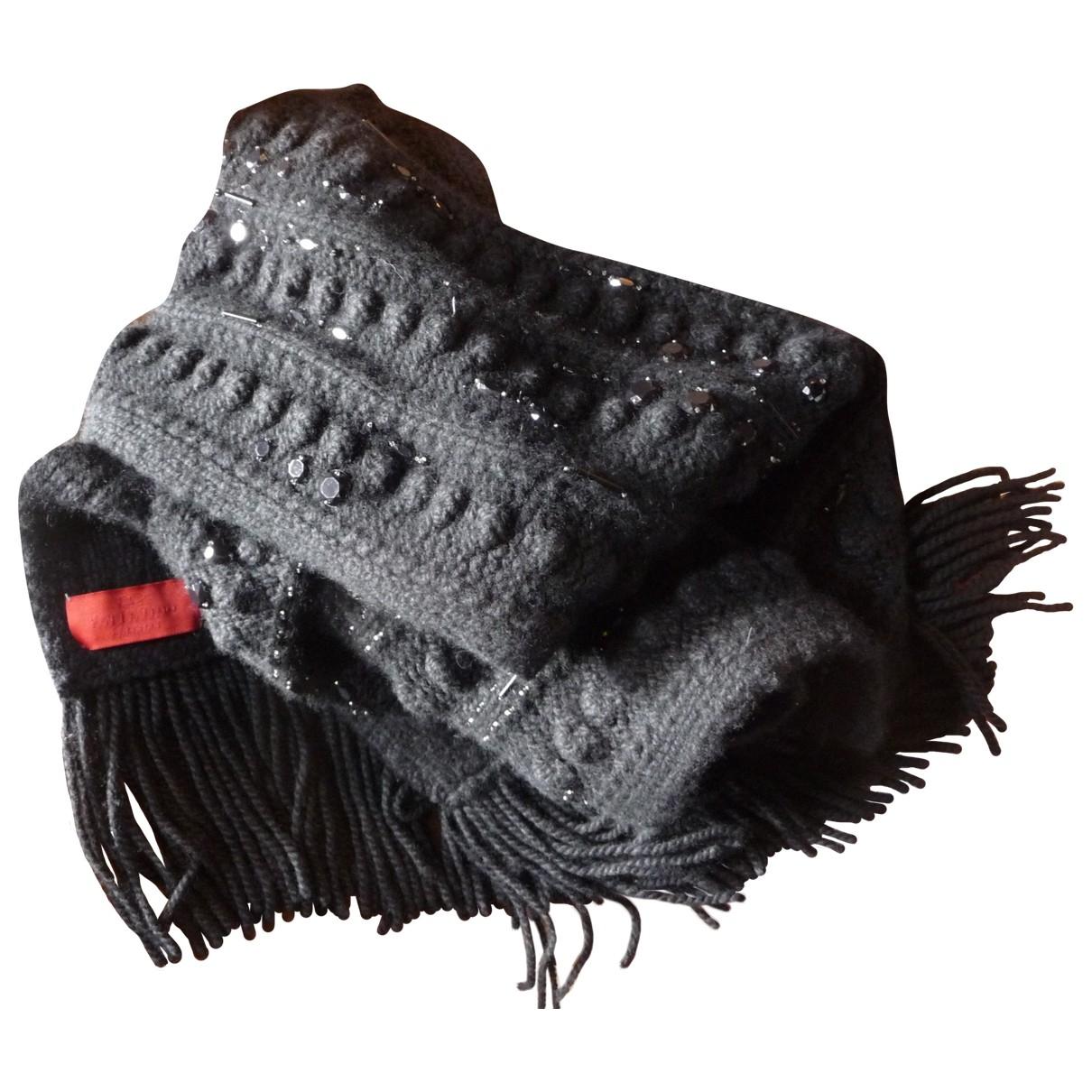 Valentino Garavani \N Black Wool scarf for Women \N