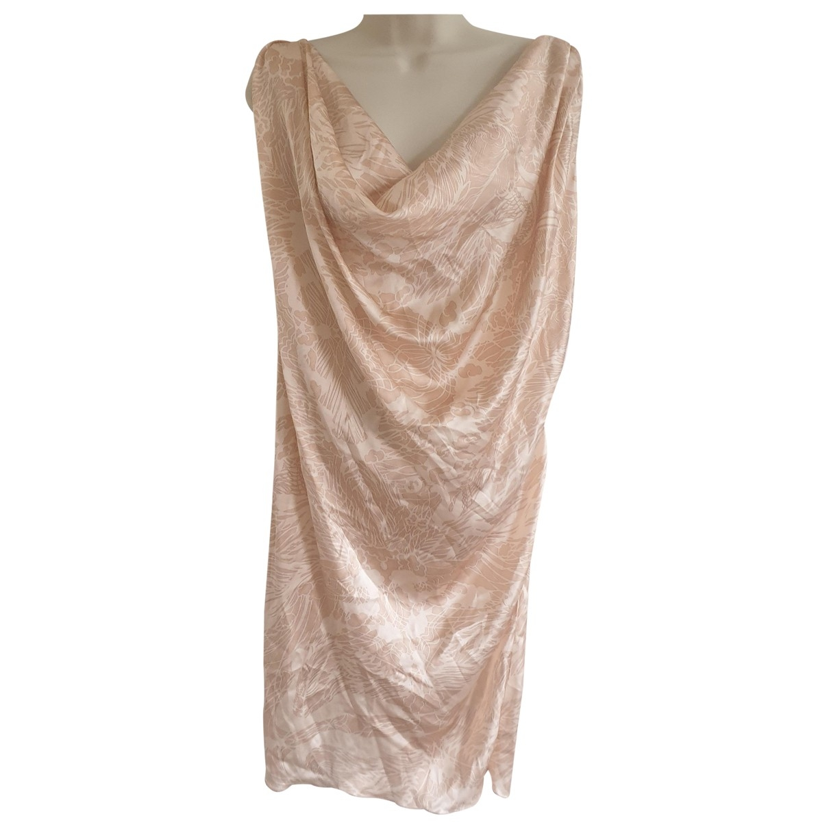 Giles \N Pink Silk dress for Women 42 IT