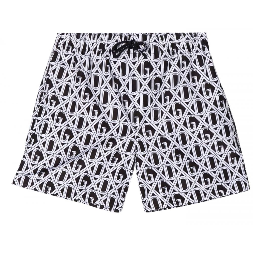 Dolce & Gabbana Logo Swim Shorts Colour: BLACK, Size: 10 YEARS