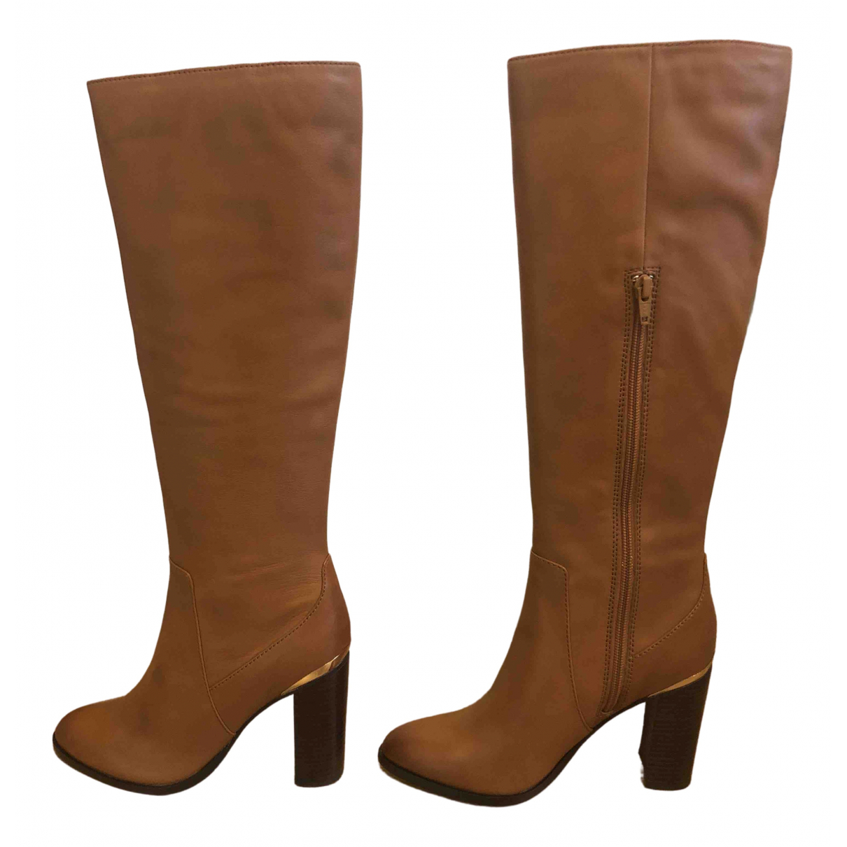 River Island N Camel Leather Boots for Women 36 EU