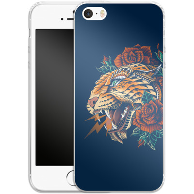 Apple iPhone 5 Silikon Handyhuelle - Ornate Leopard von BIOWORKZ