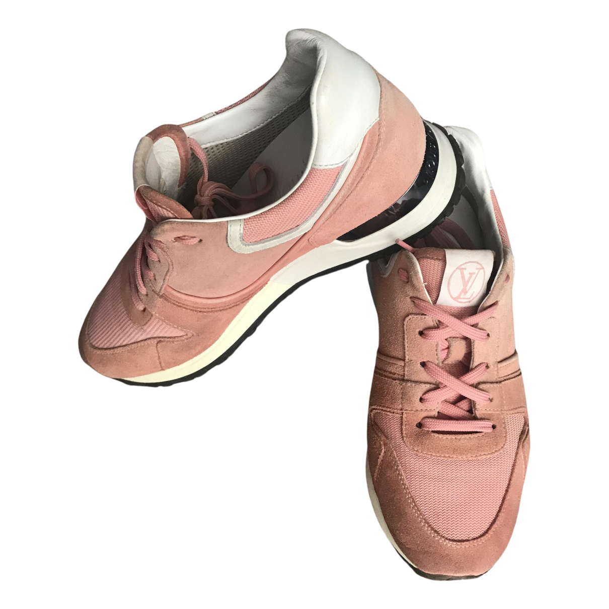 Louis Vuitton Run Away Sneakers in  Rosa Veloursleder