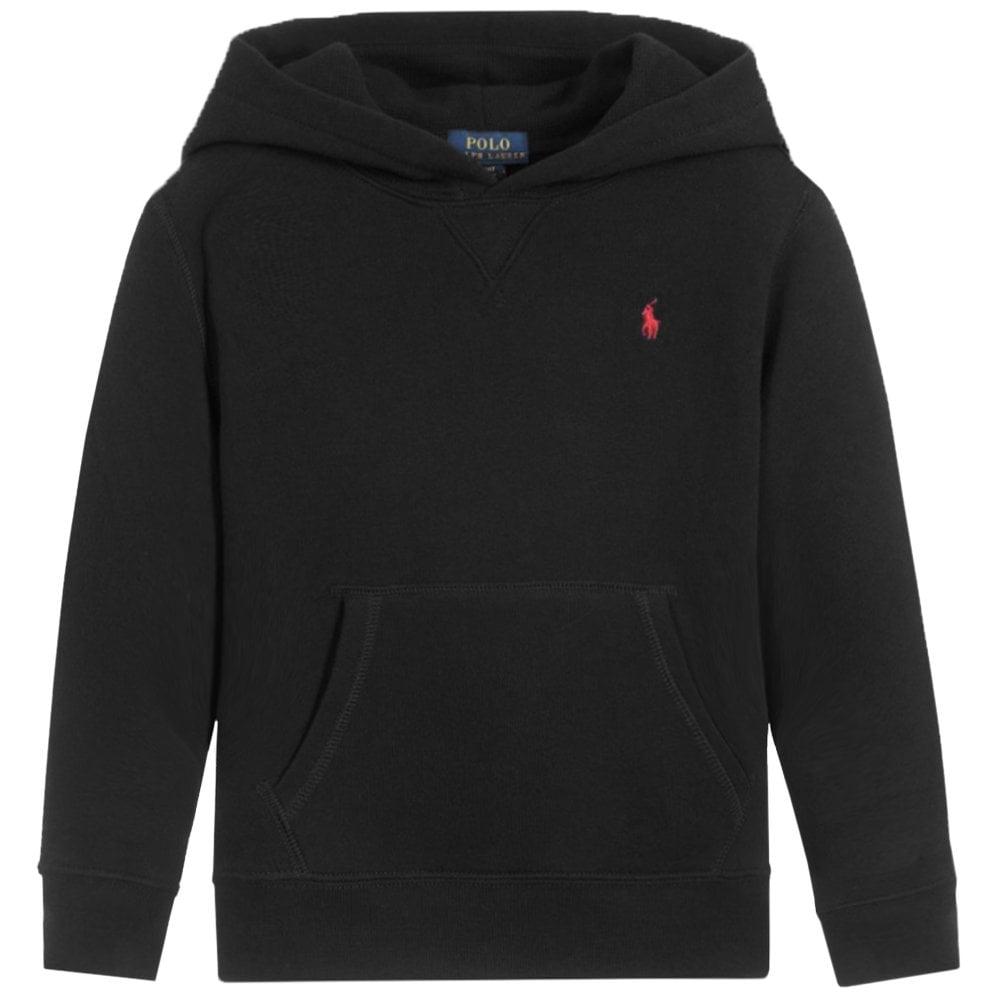 Ralph Lauren Polo Logo Hoodie Black Colour: BLACK, Size: M (10-12 YEARS)