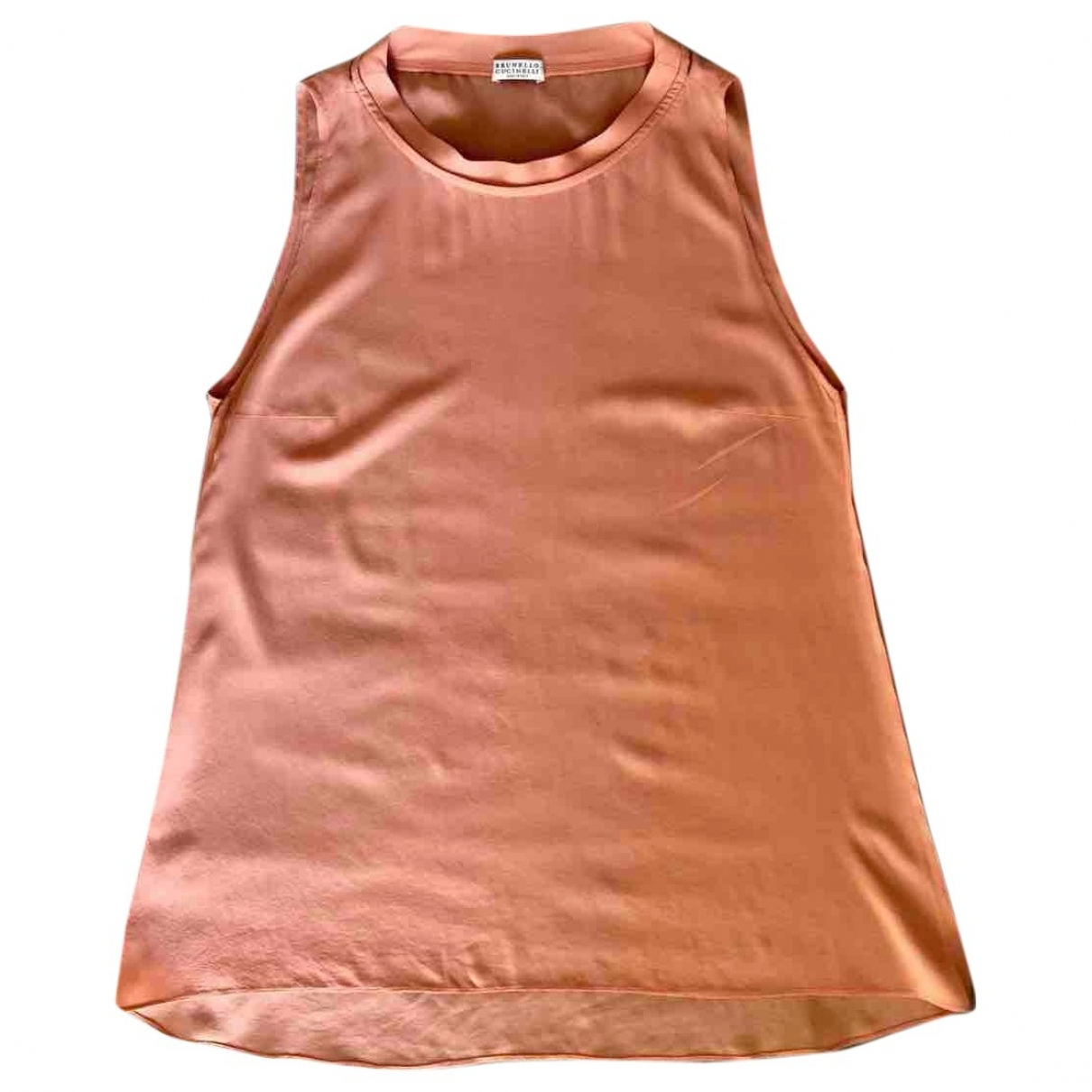 Brunello Cucinelli \N Orange Silk  top for Women 42 IT