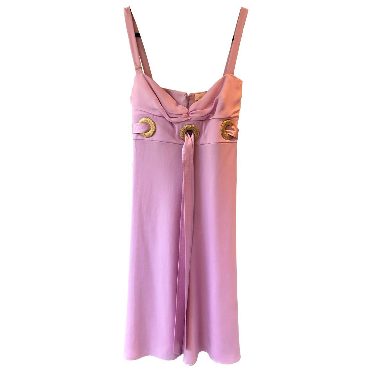 Valentino Garavani \N Pink Silk dress for Women 8 UK