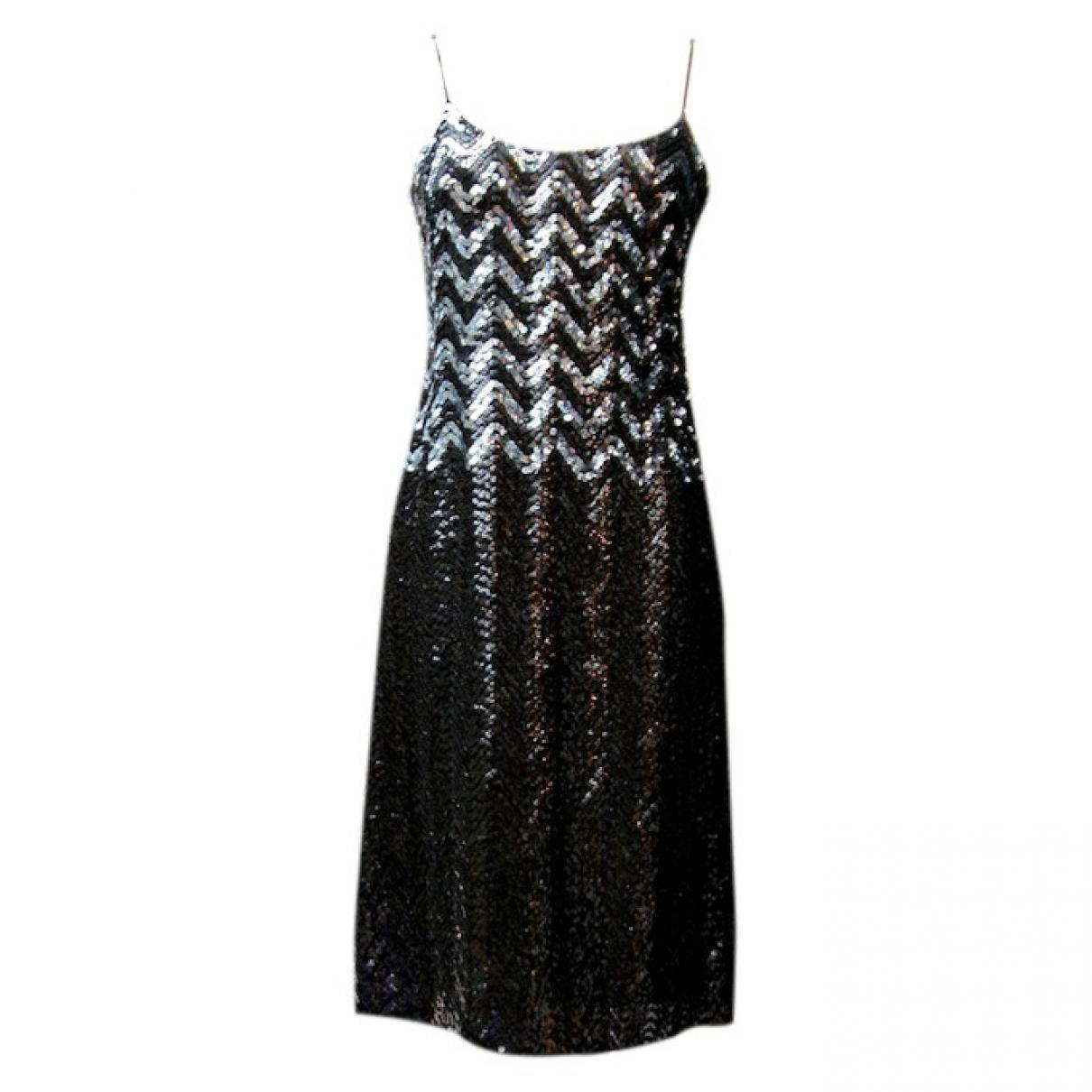 Louis Feraud \N Black Glitter dress for Women 38 FR