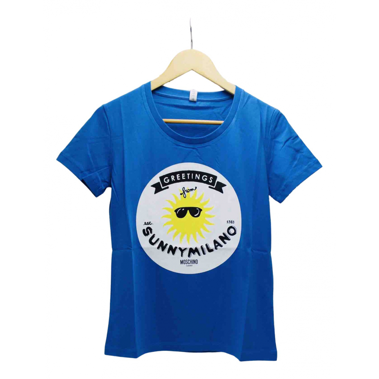 Moschino \N Blue Cotton  top for Women L International