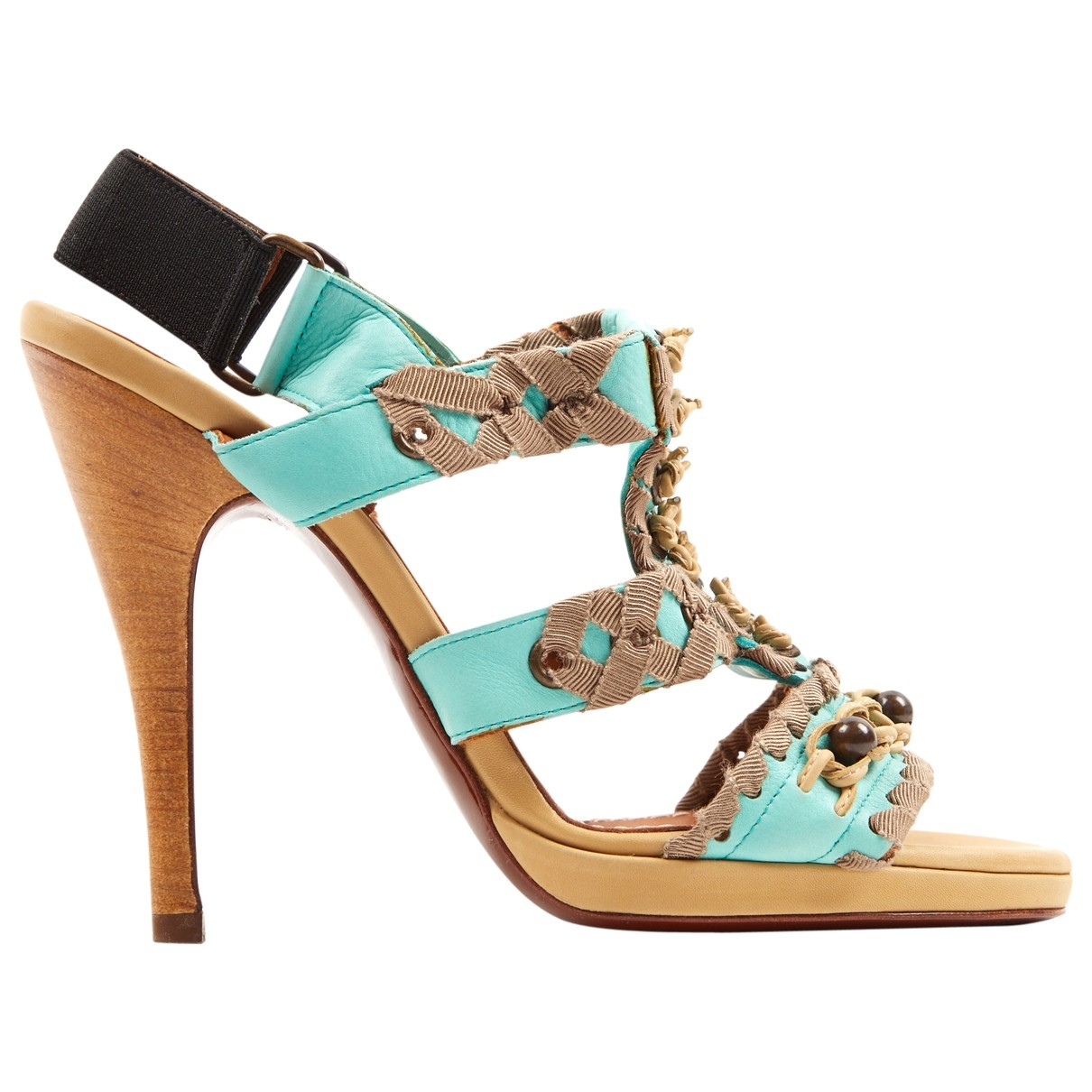 Lanvin \N Turquoise Leather Sandals for Women 37 EU