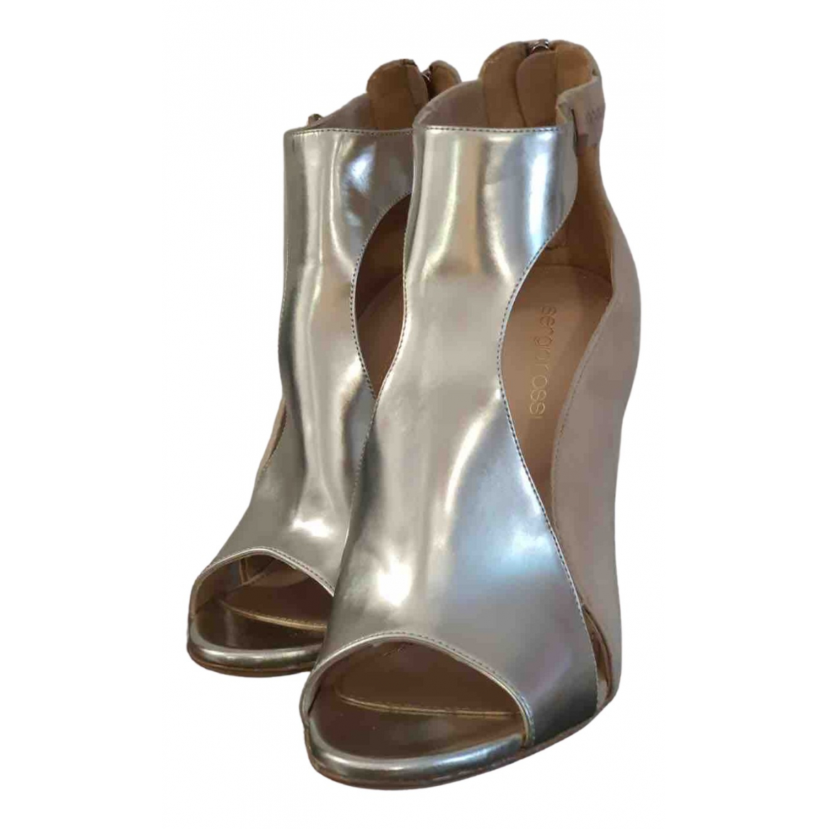 Sergio Rossi \N Silver Leather Sandals for Women 37.5 EU
