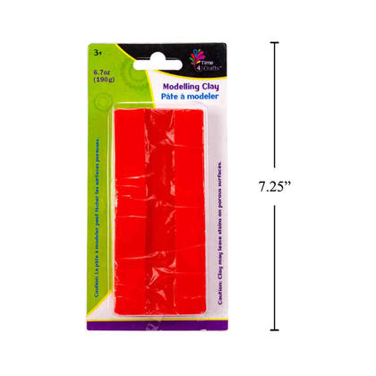 Solid Color DIY Soft Modelling Clay for Children Adults Creative Projects, Red, 190g