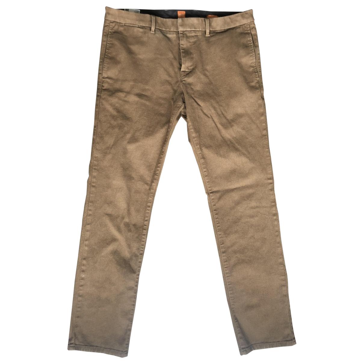 Boss Orange \N Gold Cotton Trousers for Men 52 IT