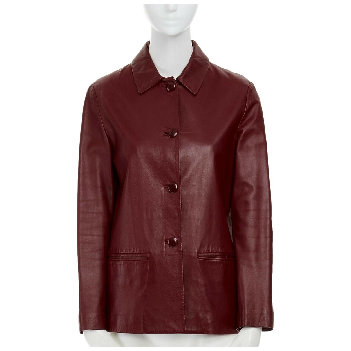 Salvatore Ferragamo - Veste   pour femme en cuir - rouge
