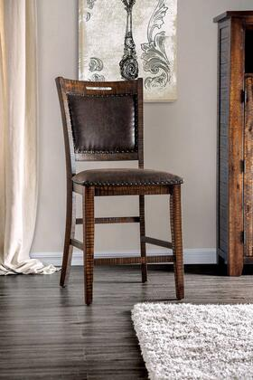 Wichita Collection CM3061PC-2PK Counter Height Chair (Set of 2) in Distressed Dark