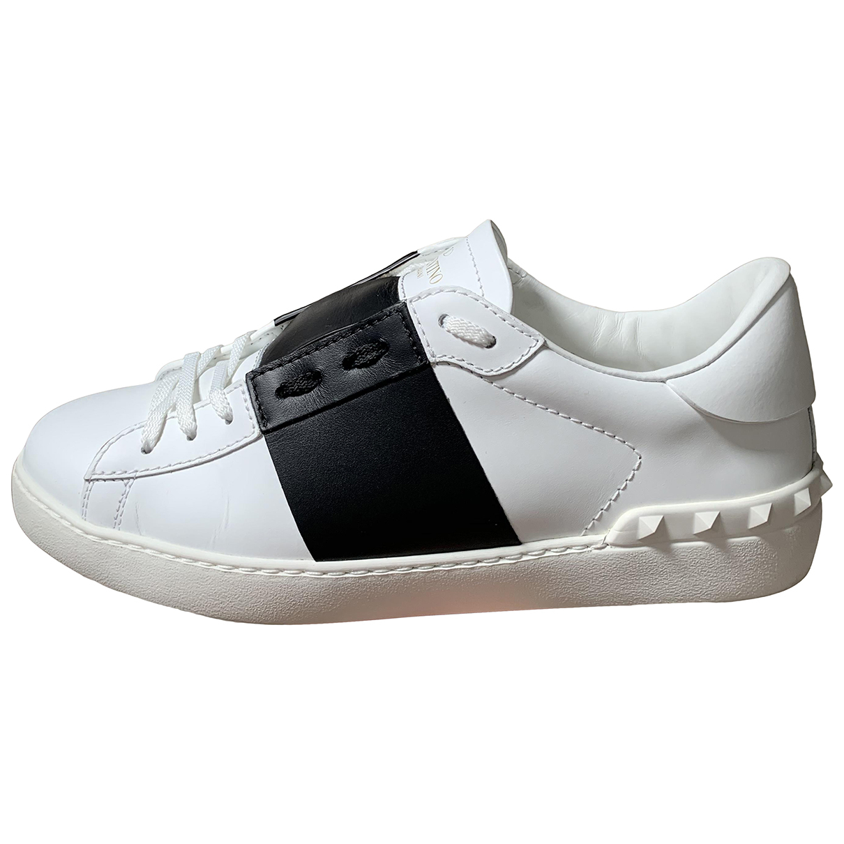 Valentino Garavani - Baskets   pour homme en cuir - blanc