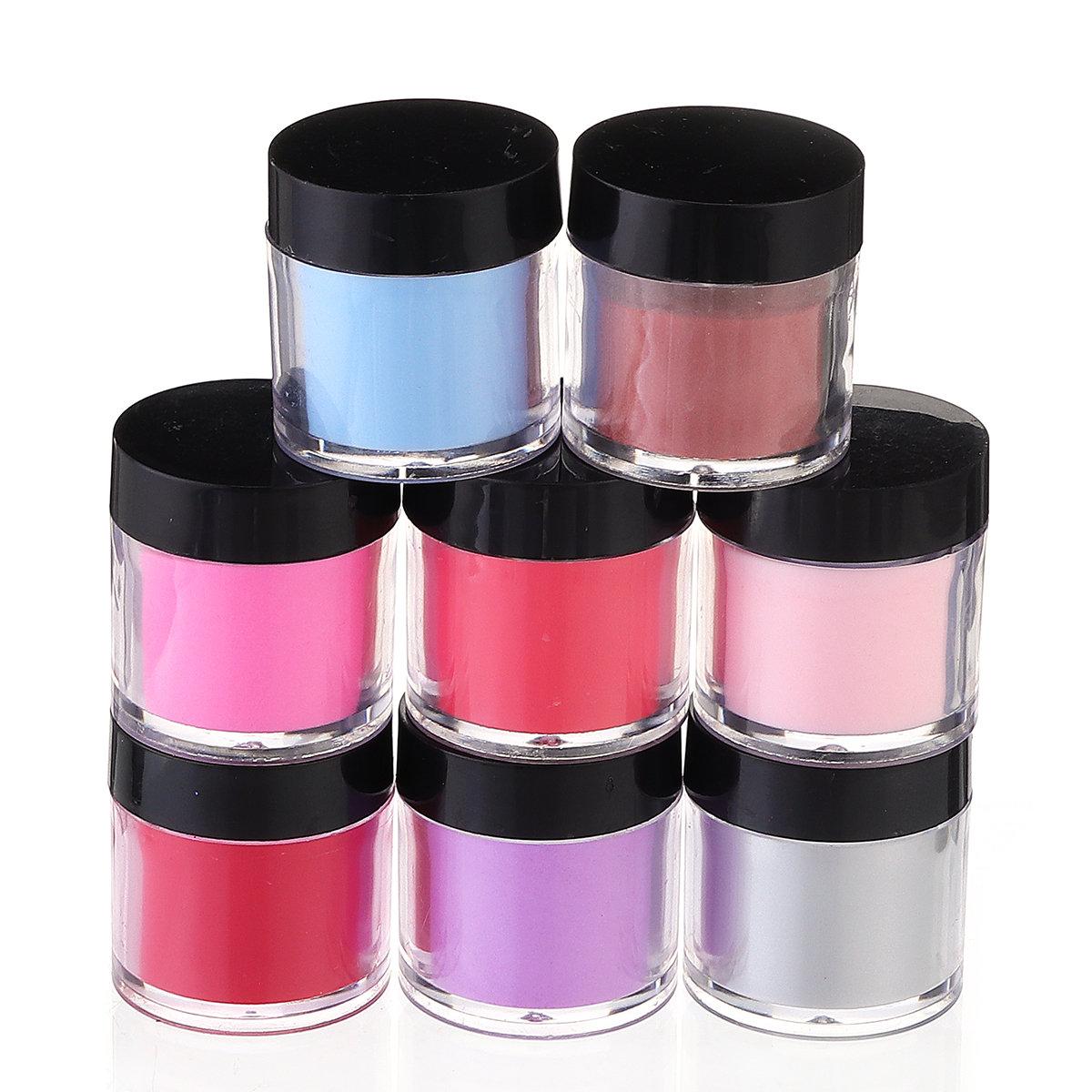 8 Colors Nail Dipping Powder 10ML Nail Decoration Powder DIY Nail Art Beauty Manicure Tool