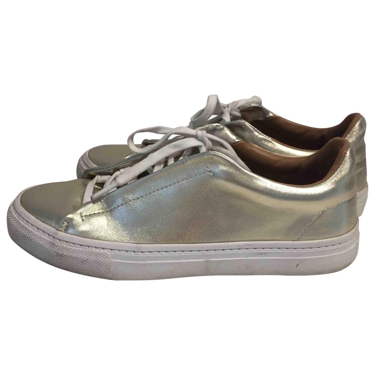 Zara \N Sneakers in  Gold Polyester