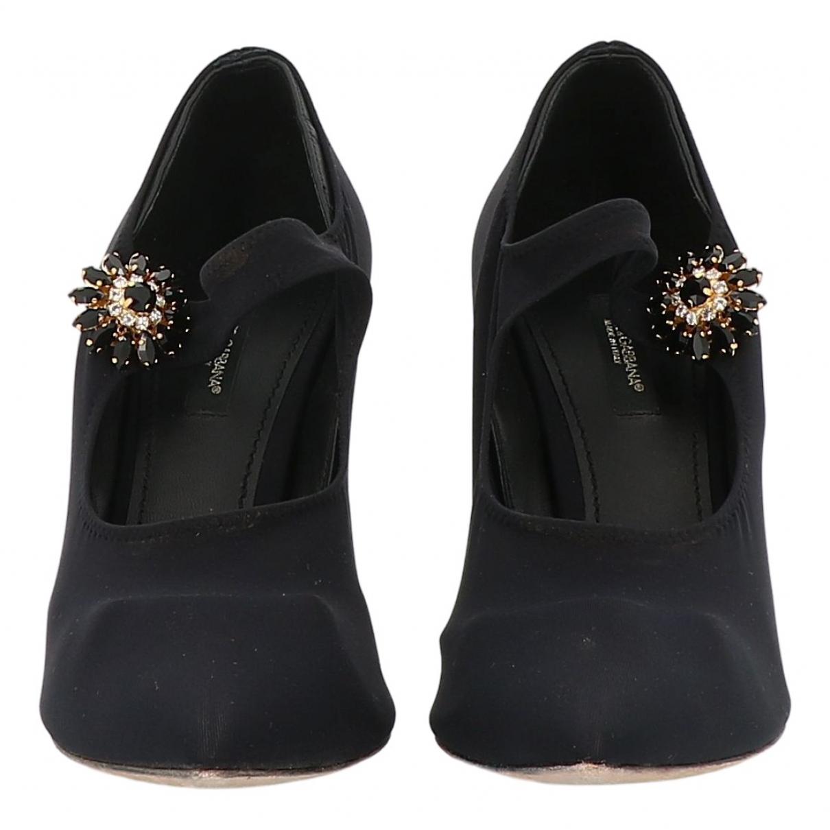 Dolce & Gabbana \N Pumps in  Schwarz Leinen
