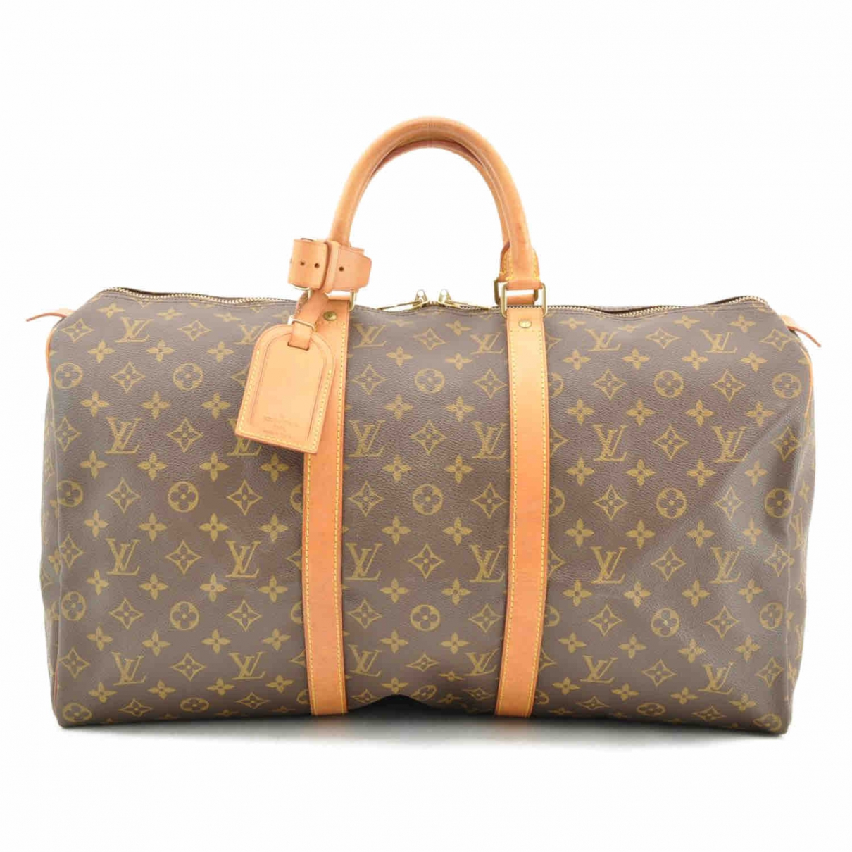 Louis Vuitton Keepall Brown Cloth Travel bag for Women \N