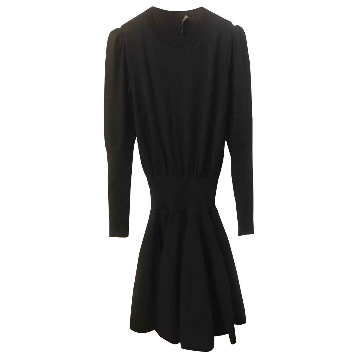 Alexander Mcqueen \N Kleid in  Blau Wolle