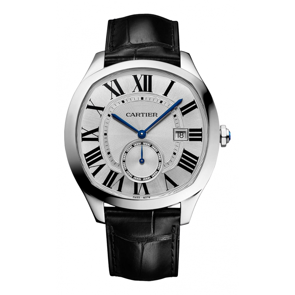 Cartier Drive Uhr in  Silber Stahl