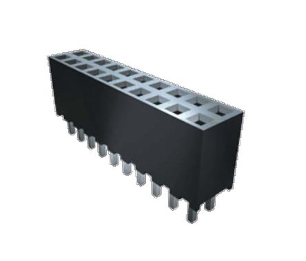 Samtec , SQT 2mm Pitch 30 Way 2 Row Right Angle PCB Socket, Surface Mount, Through Hole Termination (18)