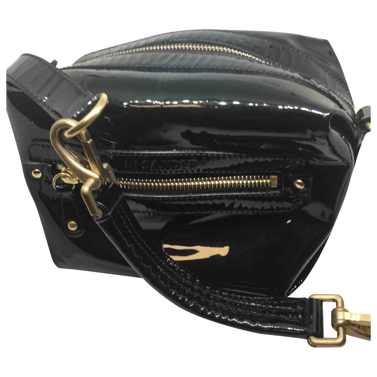 Jil Sander \N Handtasche in  Schwarz Lackleder