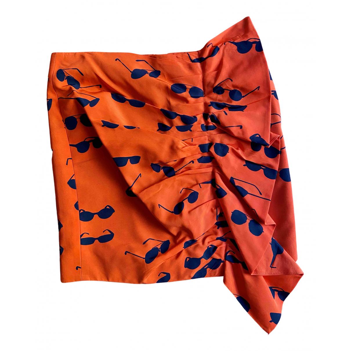 Victoria, Victoria Beckham - Jupe   pour femme en coton - orange