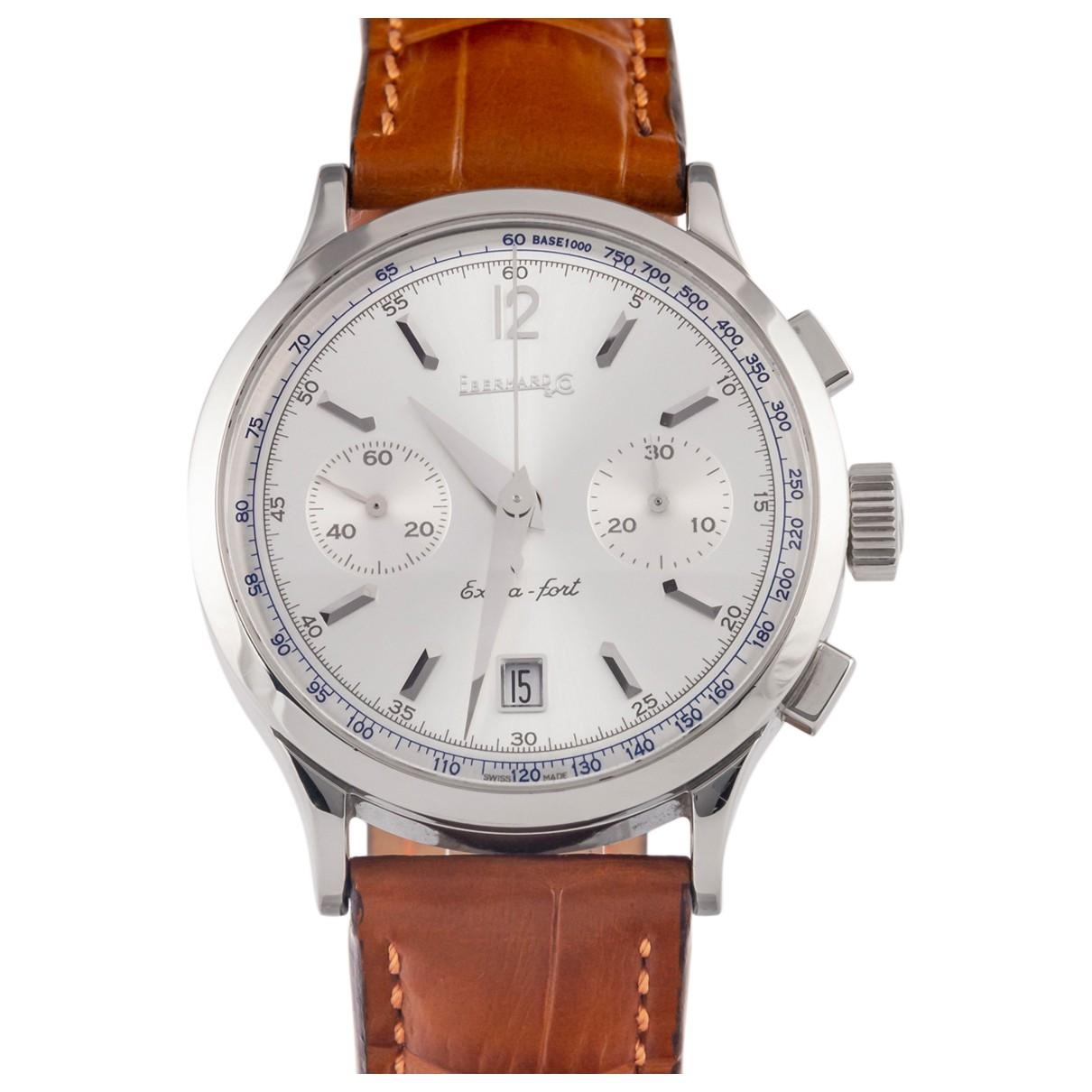 Eberhard \N Uhr in  Silber Stahl