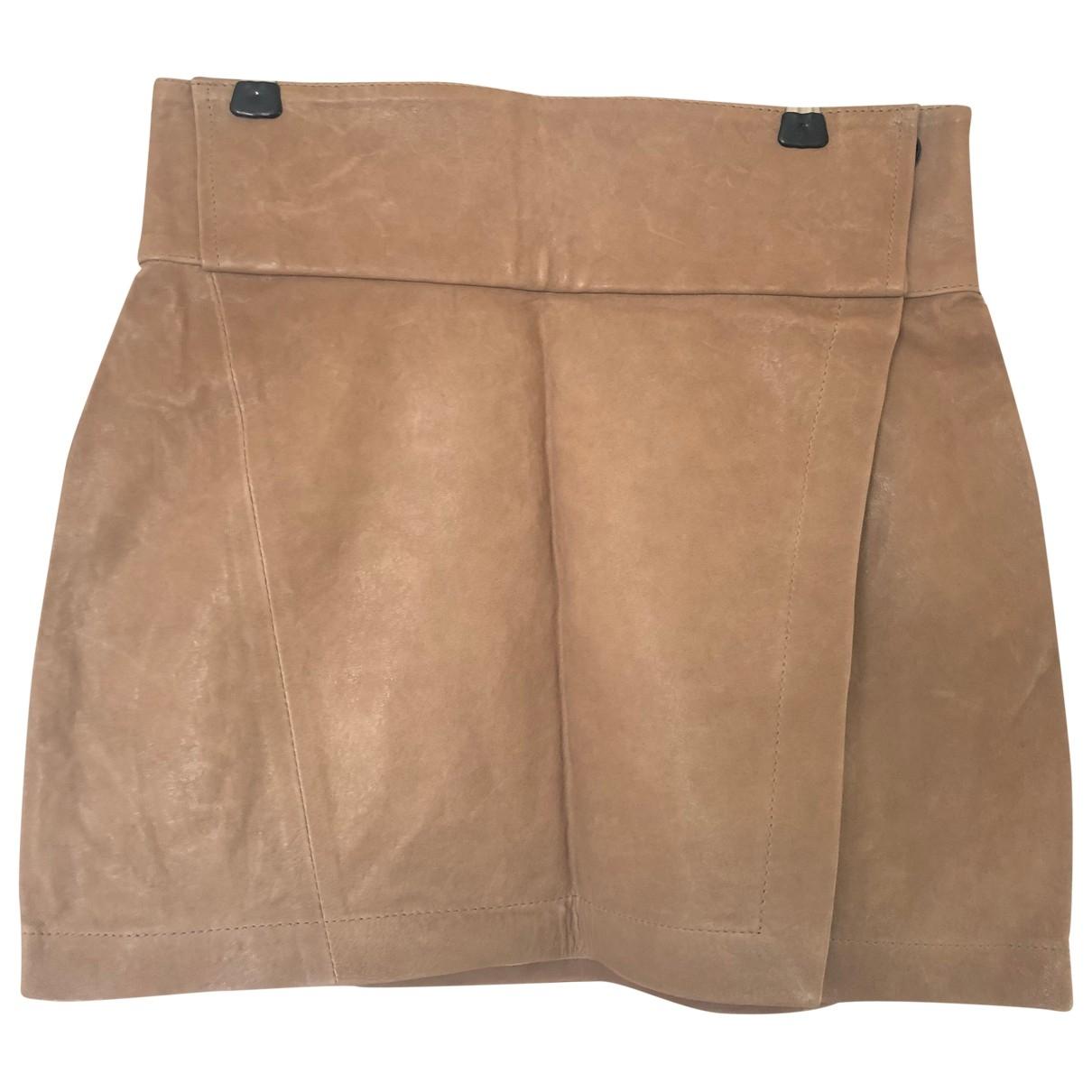 Damir Doma \N Beige Leather skirt for Women 8 UK