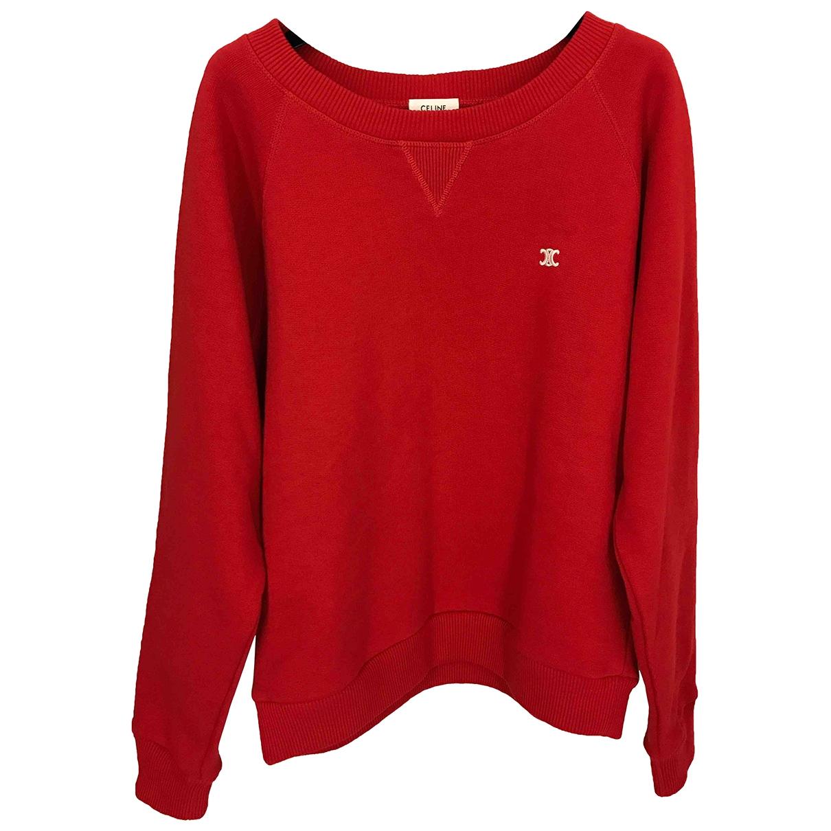 Celine \N Pullover in  Rot Baumwolle