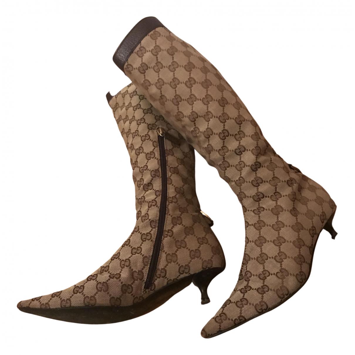 Gucci \N Stiefel in  Beige Leinen