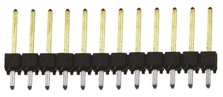 Samtec , TSW, 12 Way, 1 Row, Straight Pin Header