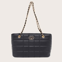 Stitch Detail Chain Shoulder Bag