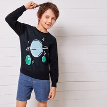 Pullover mit Galaxis Muster