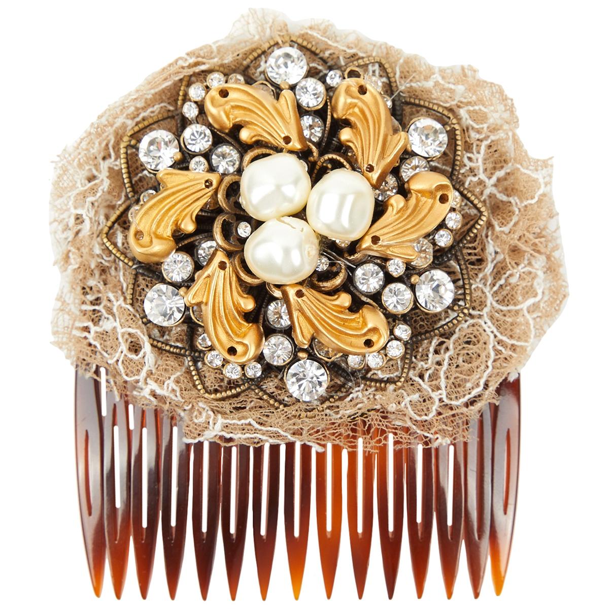 Broche en Plastico Marron Dolce & Gabbana