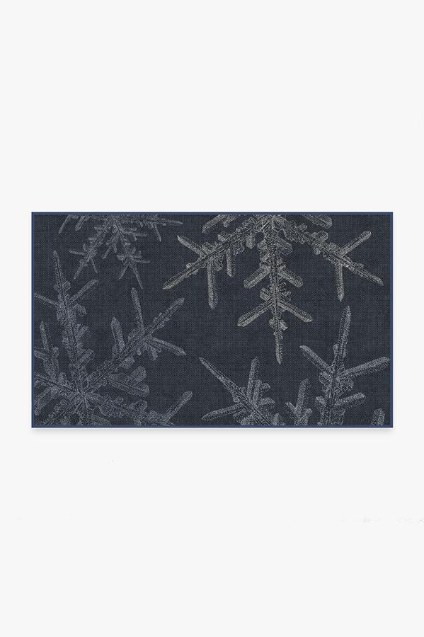 Washable Rug Cover | Snowflake Navy Rug | Stain-Resistant | Ruggable | 3'x5'