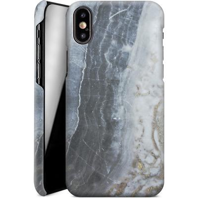 Apple iPhone X Smartphone Huelle - Desaturated Marble von Emanuela Carratoni