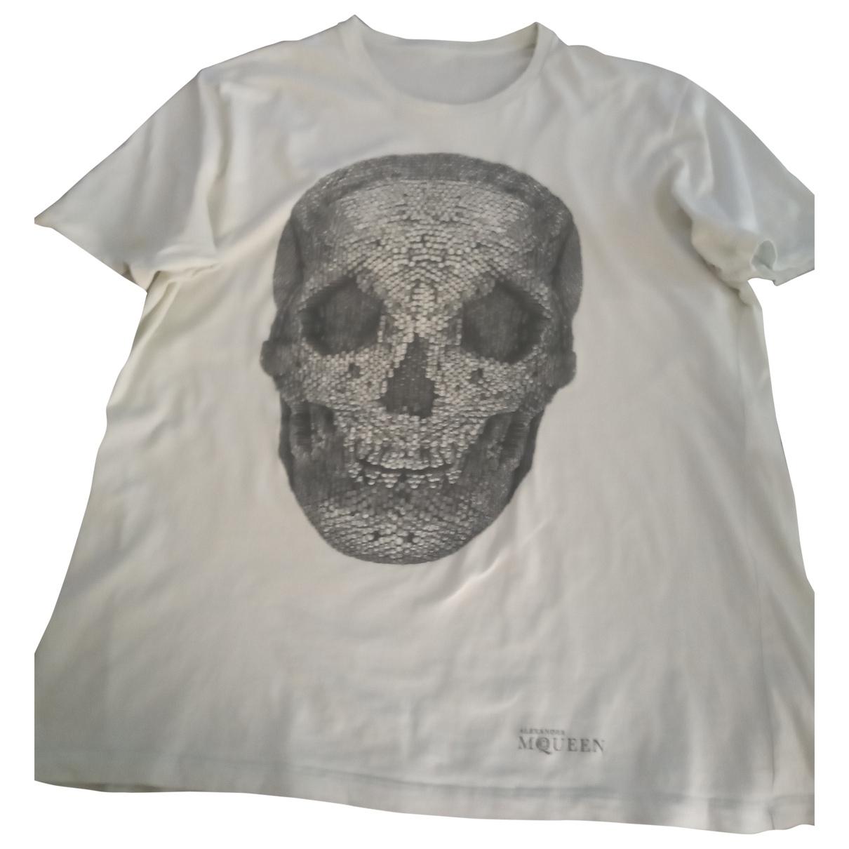 Alexander Mcqueen \N White Cotton T-shirts for Men XL International