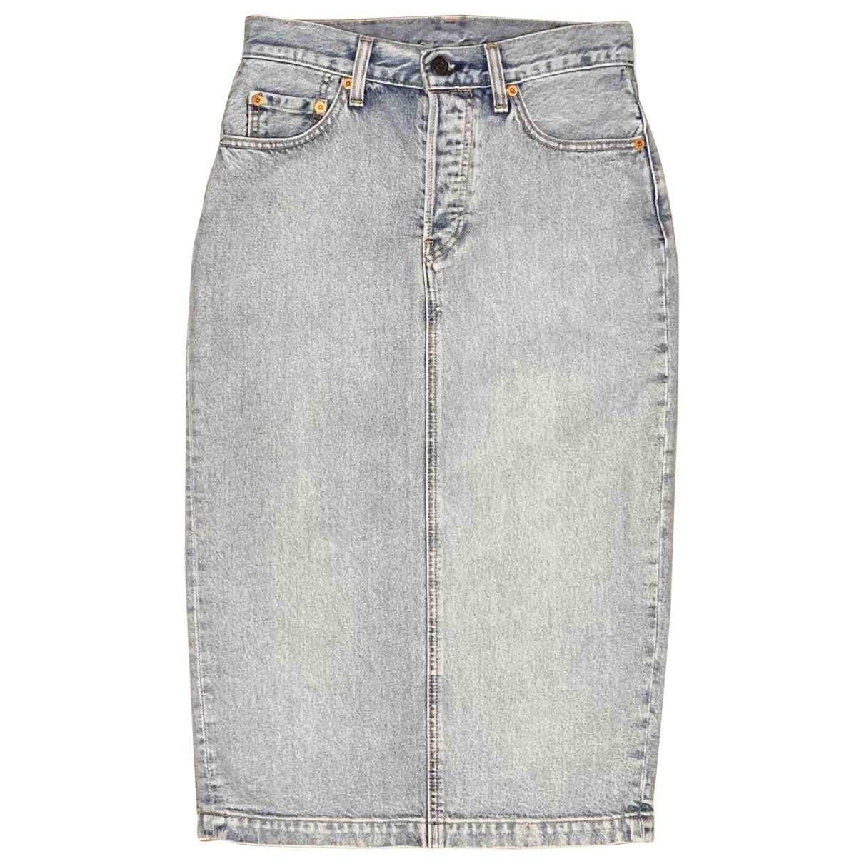 Levi's \N Blue Denim - Jeans skirt for Women 36 FR