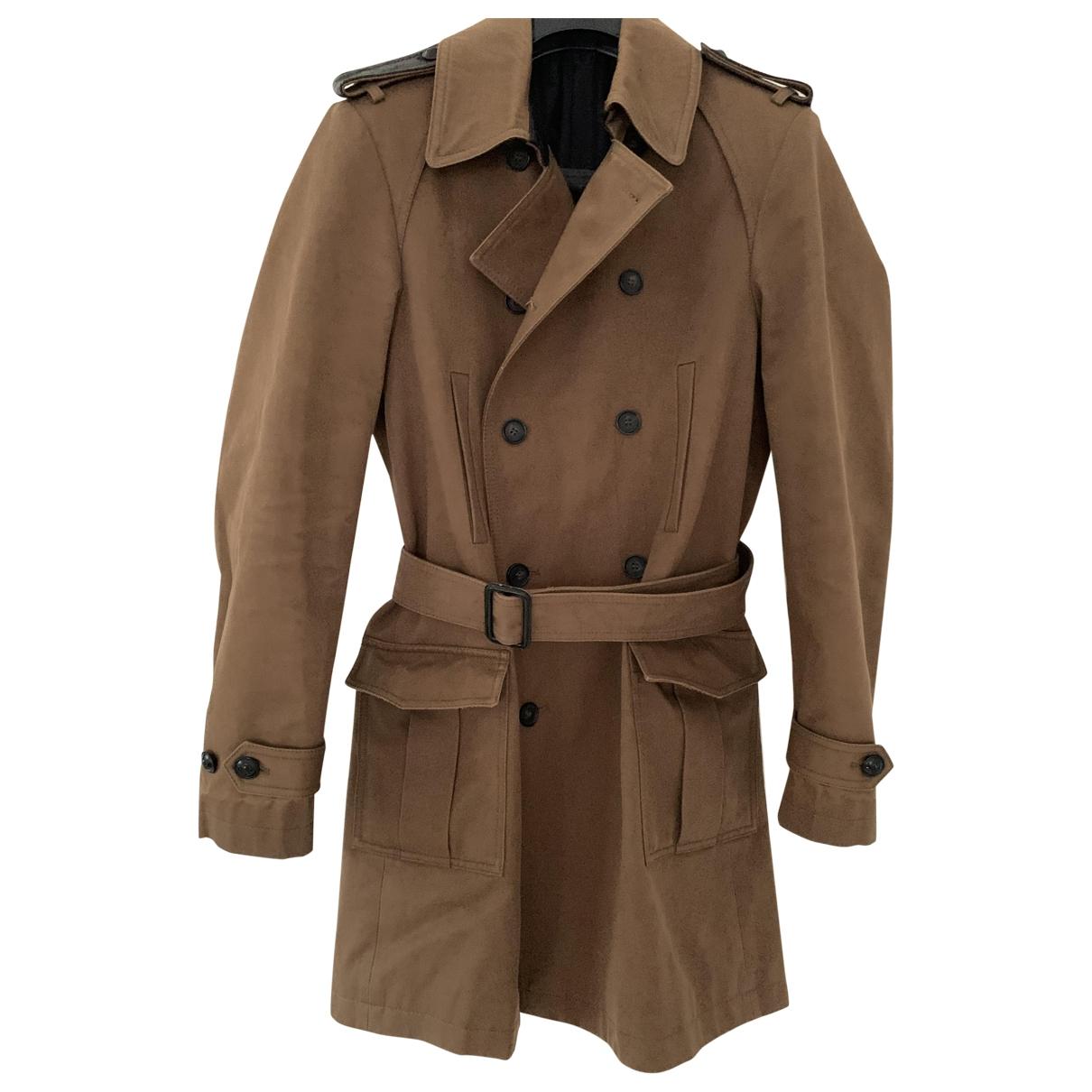 The Kooples - Manteau   pour homme en coton - marron