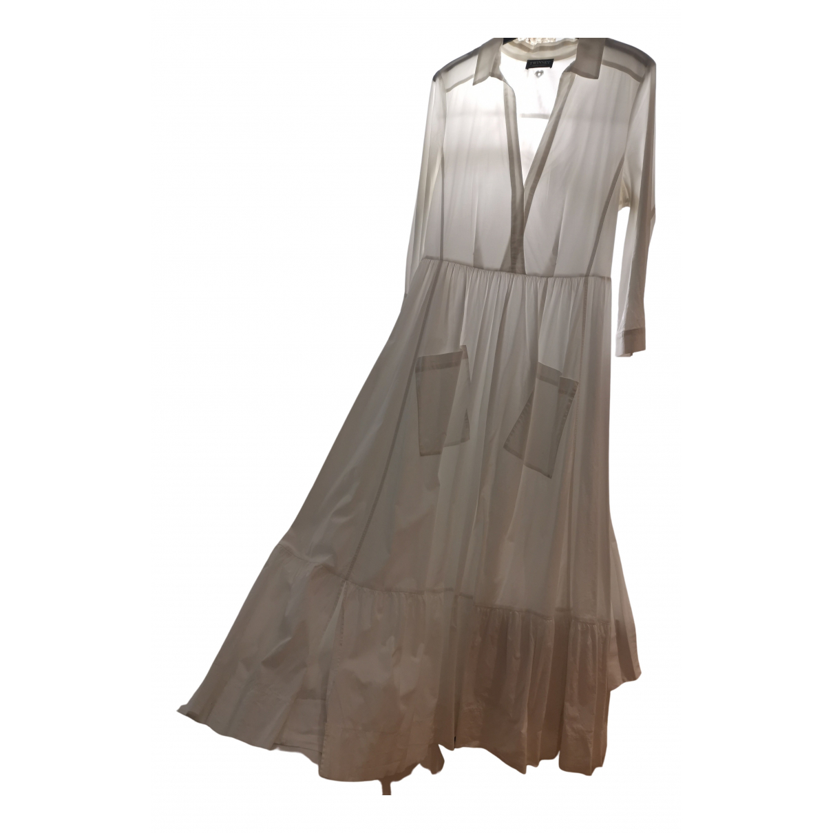 Twin Set \N Kleid in  Weiss Baumwolle